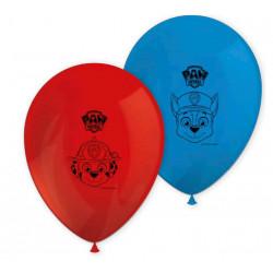 Paw Patrol Ballonger Blå och Röda